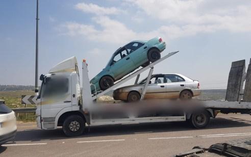נעצרו שני חשודים שלא הוציא רישיון נהיגה מעולם ונהגו בכלי רכב המיועדים לפירוק
