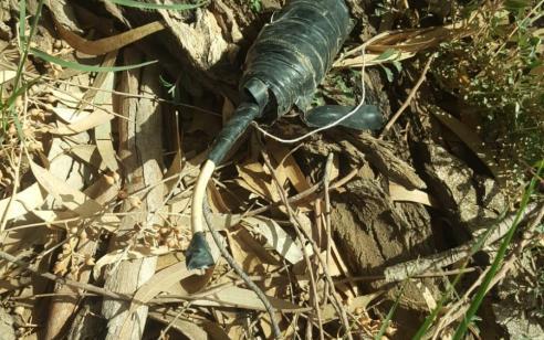 נפל של מטען אותר בשדה חקלאי בשטח פתוח באשכול – טופל על ידי חבלן
