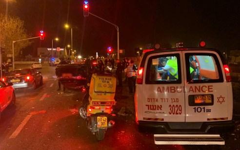 צעירה נפצעה בינוני עד קשה ונערה קל בתאונה בחיפה
