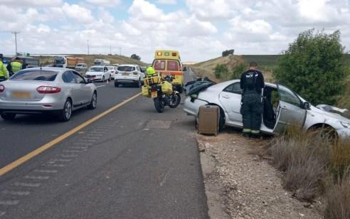 5 פצועים בתאונה בין 3 רכבים בכביש 6
