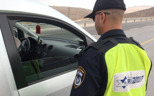 491 דוחות תנועה נרשמו במהלך סוף השבוע האחרון בכבישי יהודה ושומרון