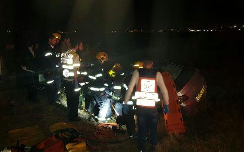 בן 25 נפצע בהתהפכות רכבו בסמוך לצומת הנמל באשדוד – מצבו בינוני