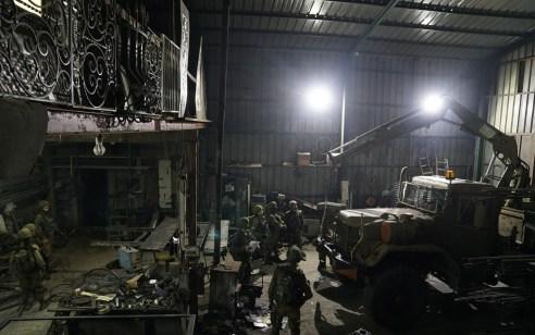 הלילה נעצרו 11 מבוקשים פעילי טרור והוחרמה מחרטה ליצור נשק בכפר ענאתא