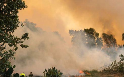 למרות הגדלת מרחב הדיג: חוקר שריפות קבע – שריפה פרצה בעקבות בלון בישוב עלומים שבשדות נגב