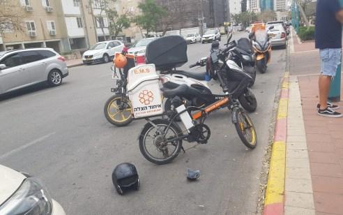רוכב אופניים בן 37 נפגע מרכב בצומת אשקלון – מצבו בינוני