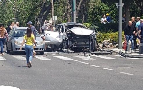 גבר ואישה נפצעו קשה בפיצוץ רכב בחיפה, 3 נוספים לקו בחרדה – הרקע נבדק
