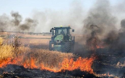 יום הנכבה: 9 שריפות נגרמו מבלונים בעוטף עזה