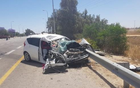 בת 20 נפצעה קשה בתאונה בין משאית לרכב בצומת אורים