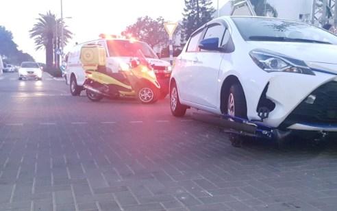 כונן הצלה הגן על ילדה מתאונה ונפצע