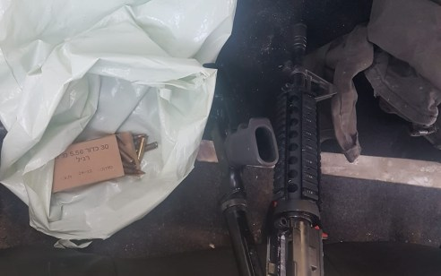 בחיפוש ברכב בצומת תפוח אותר רובה מסוג m16 ותחמושת – 2 חשודים תושבי השטחים נעצרו