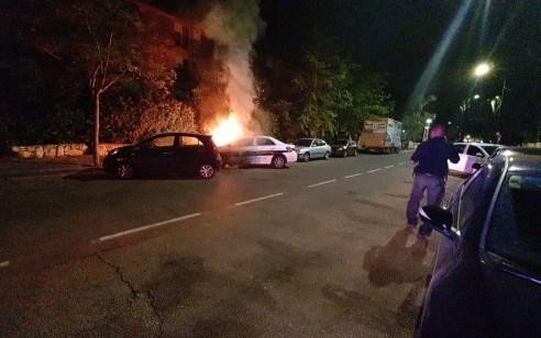 נעצר תושב אזור הקריות החשוד בהצתת ניידת משטרה אמש בקרית ביאליק