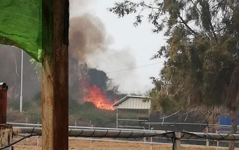 שריפה גדולה בכרמיה שבעוטף עזה – החל פינוי קו ראשון של בתים