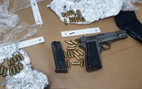 בחיפוש בביתו של תושב רהט נתפס אקדח וכדורים אשר הוחזקו שלא כדין