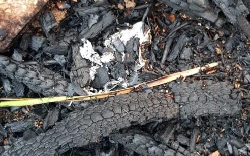 נתיבות: פרגולה של בית פרטי נשרפה בעקבות בלון תבערה