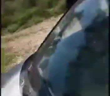 צפו: רעולי פנים תיעדו את עצמם יורים על שני רוחצים בנהר הירדן ומציתים את רכבם