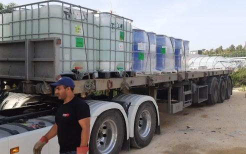 סוכלה הברחת חמישה טון חומר דו שימושי לאזור יהודה ושומרון דרך מעבר קלנדיה
