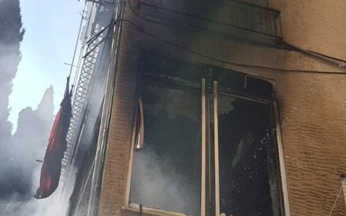 3 לכודים חולצו משריפה בחיפה – נזק כבד לבית