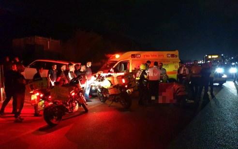 הולכת רגל בת 25 נהרגה מפגיעת רכב בכביש 65 סמוך לאום אל פחם