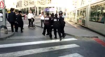 7 חשודים נעצרו בהפגנה נגד הגיוס באזור התחנה המרכזית בירושלים