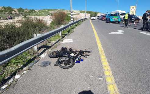 רוכבת אופניים בת 52 נפגעה מרכב בכביש 353 מצומת קוממיות לכיוון קרית גת – ממבה בינוני