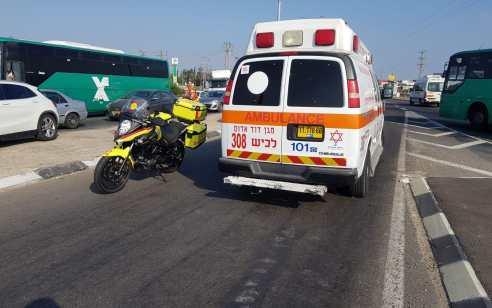 רוכב אופנוע בן 49 נפצע בינוני בתאונה באשדוד