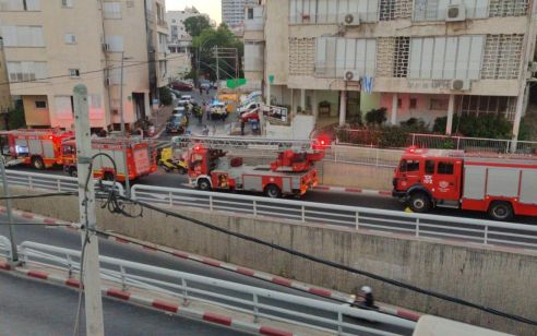 מספר נפגעים קל בשריפת בניין ברמת גן – הדיירים פונו
