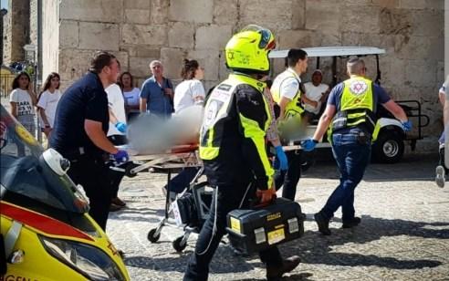 גבר בן 31 נפצע קשה מאוד מנפילה מגובה במגדל דוד בעיר העתיקה בירושלים