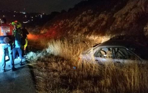 פצוע בינוני ו-5 קל בתאונה בין רכב לאופנוע בכביש 60 סמוך למנהרות