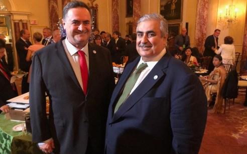 פגישה פומבית ראשונה בין שר החוץ של ישראל לשר החוץ של בחריין