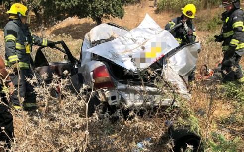 בת 25 נהרגה בהתהפכות רכב לוואדי במהלך מרדף בכביש 79 צומת המוביל – הנהג ונוסע נוסף ברחו רגלית
