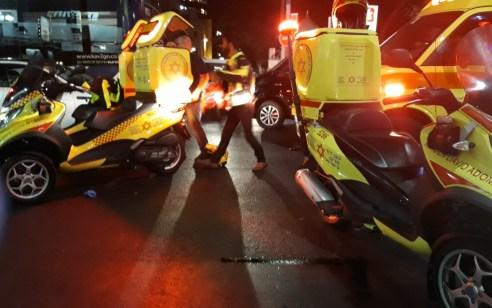 רוכב קורקינט חשמלי כבן 22 נפגע מרכב בתל אביב- מצבו בינוני