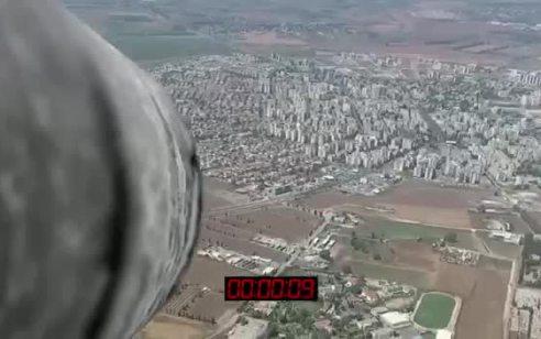 צפו: כך ייראה ירי טיל מיו״ש לעבר העיר עפולה