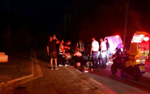 נער כבן 16 נפצע קשה מפגיעת רכב סמוך לאלעד