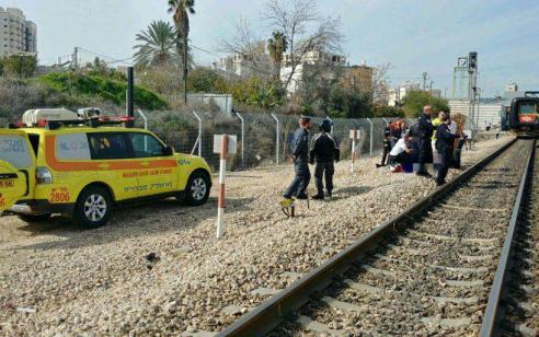 חיפה: הולך רגל נפגע מרכבת ונהרג