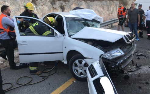 הרוג ושלושה פצועים בתאונה בכביש 60 סמוך לשער בנימין