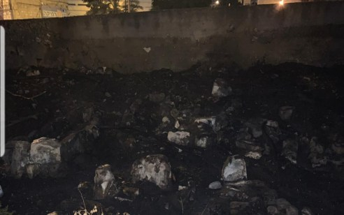 נעצר חשוד בהצתת קוצים בבית קברות בואדי סאליב בחיפה