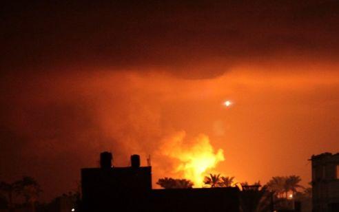 חיל האוויר תקף יעדי חמאס בעזה בתגובה לירי הרקטות לעבר שדרות