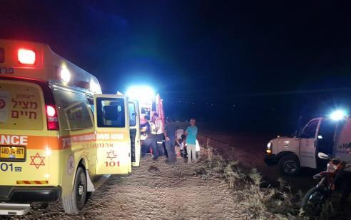 צעיר בן 18 נפצע בינוני בהתהפכות טרקטורון בשטח פתוח סמוך למעיין עין יזרעל