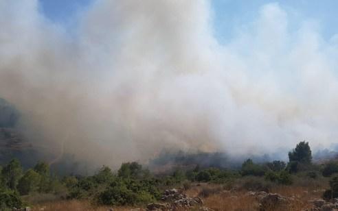 שריפת יער משתוללת סמוך לבית שמש: דיירי קו הבתים הראשון של מושב בית מאיר פונו