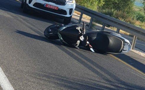 רוכב אופנוע נפצע קשה בתאונה בכביש 92 סמוך שיטים בכנרת