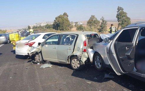פצועה בינוני ו-6 קל בתאונות בסמוך לכניסה לאיזור התעשיה קדמת גליל