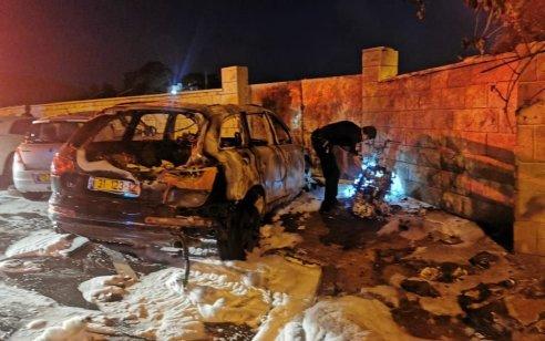 מספר כלי רכב עלו באש בחיפה – אין נפגעים