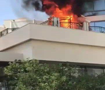 פצוע בינוני ושניים קל בשריפה במלון מג׳יק פלאס באילת – תיעוד