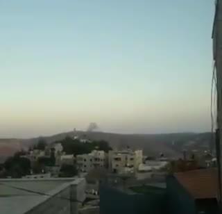 """פצמ""""ר נפל בשטח הסורי סמוך לגבול ישראל – תיעוד"""