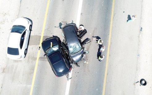 חמישה פצועים בינוני וקל בתאונה חזיתית בין שני כלי רכב בכביש 90 בין צומת עידן לעין חצבה