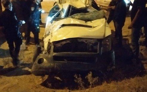 פצוע קשה ושלושה בינוני וקל לאחר שרכב התהפך בכביש 25 סמוך למחלף שרה