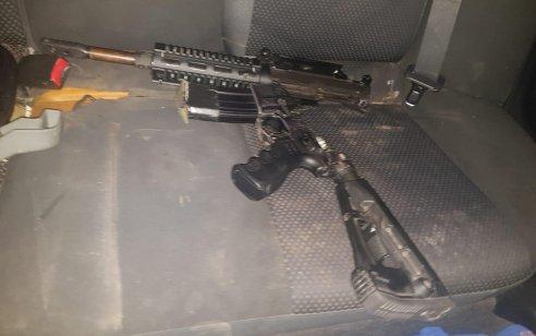 תיעוד: נעצר בזמן נסיעה בנצרת כשברכבו נשק מסוג M-16 המוחזק בניגוד לחוק