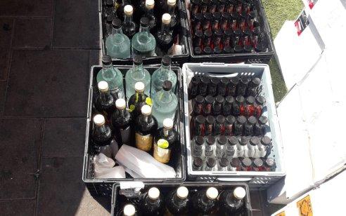 בת ים: המשטרה החרימה למעלה מ-1900 בקבוקי אלכוהול מזוייפים המכילים חומר מסוכן לציבור