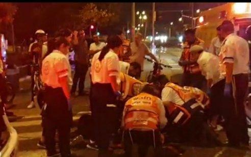 רוכב אופניים חשמליים בן 18 נפגע מאוטובוס בירושלים – מצבו בינוני