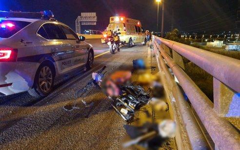רוכב אופניים חשמליים כבן 50 נפצע קשה מפגיעת רכב בכביש 22 על גשר צומת וולקן